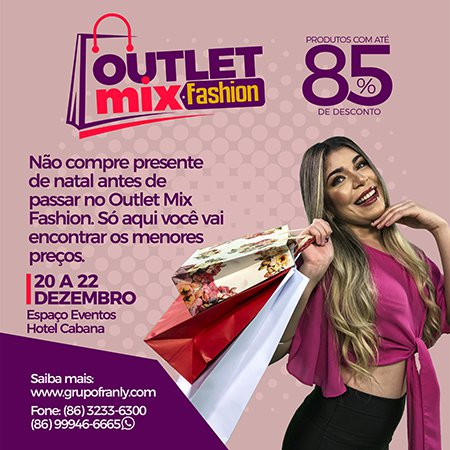 Hotel Cabana sedia o Outlet Mix Fashion. Confira!